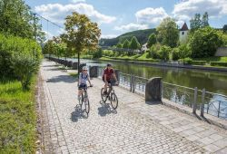 Cycling along the canal in Berching