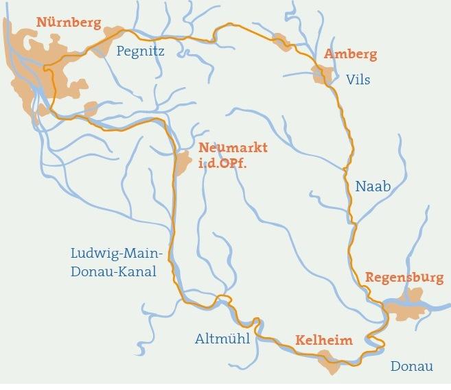 Bayern Karte Flüsse.Fünf Flüsse Ein Genuss Fünf Flüsse Radweg In Bayern