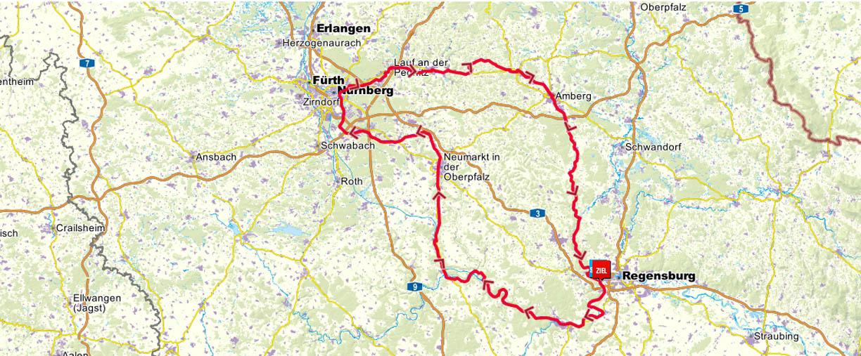 Bayern Karte Flüsse.Tourenkarte Fünf Flüsse Radweg In Bayern