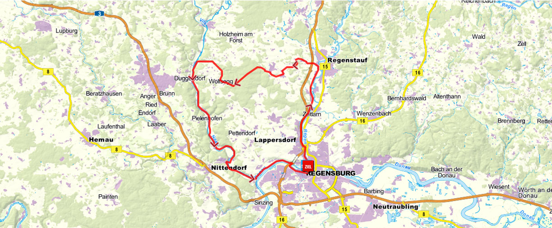 Bayern Karte Flüsse.Drei Flüsse Tour Fünf Flüsse Radweg In Bayern
